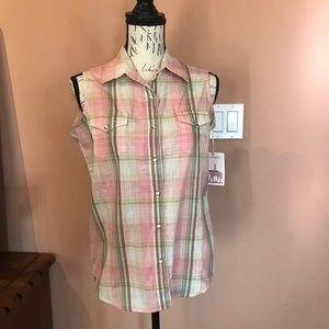 Women's Wrangler Western Style Sleeveless Top